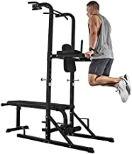 ER KANG Power Tower with Bench, 1000 LBS Pull Up Bar Dip Station, Pull Up Tower for Bench Press, Home Gym, Workout, Strength Training (2021 New)