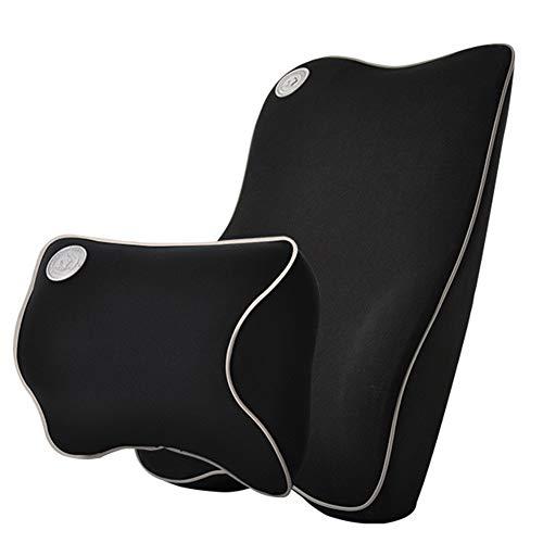 ZYJFP neksteunkussen voor de lumbale wervelkolom, van memory-katoen, ergonomisch, met neksteun, voor pijnverlichting, voor autoaccessoires, bureaustoel