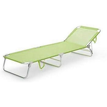 BRANDINA Pieghevole Lettino Sdraio con TETTUCCIO in Alluminio E TEXTILENE Colore Casuale per Campeggio Spiaggia Mare Piscina Giardino Milani Home s.r.l.s