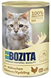 BOZITA Pate Nassfutter für Katzen mit Hühnchen - Getreidefrei - 20 x 410 g - nachhaltig produziertes Katzenfutter für erwachsene Katzen - Alleinfuttermittel