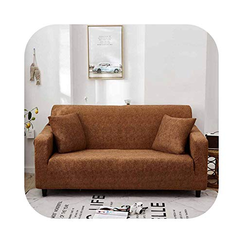 HCIUUI Stretch Sofa Covers Fully-Wrapped Anti-Dust Sofa Cover Single/Two/Three/Four-Seater Case Protector pour Living Room Office-Light Coffee-2 Seater(145-185 cm)