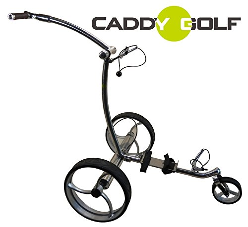 caddy-golf Edelstahl matt Pentera Elektro Golf Trolley Lithium 1,4kg 1500 Lad.