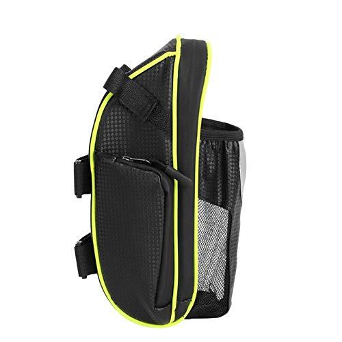 Uxsiya Ligero almacenamiento trasero C Ciclismo colgante bolsillo fijo herramienta para la mayoría de bicicletas de montaña y carretera para campamento y viajes (bolsa de cola de bicicleta)