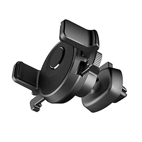 DFV mobile - Soporte Giratorio para Rejilla de Ventilacion de Coche con Clip Automatico para QILIVE 5039D (2019) - Negra