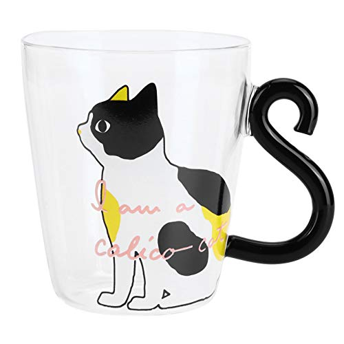 Taza Linda del Gato, Taza de Café de Cristal del Gato Leche...
