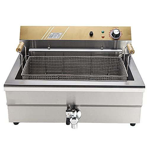 18L Freidora Comercial Tiempo Gran Capacidad, Freidora Eléctrica Con Filtro Aceite Para Alimentos Cocina Fry Restaurante Pollo Frito Fries