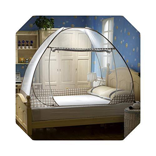 Eileen Ford Pop-Up Klamboe Studenten Slaapkamer Kinderen Luifel Plaid Draagbaar Bed Tent EEN- / tweepersoonsbed Klamboe Gesloten gaas-Koffie-B-1,0 m (3,3 voet) Bed