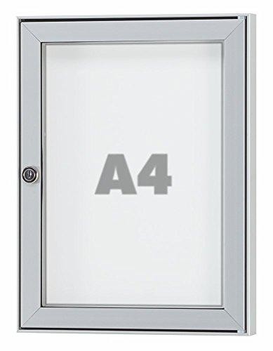 Tesus - Vitrina para exteriores (resistente a la intemperie, varios tamaños, desde 1 DIN A4 hasta 16 DIN A4)