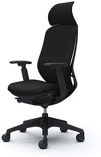 オカムラ オフィスチェア シルフィ― エキストラハイバック クッション アジャストアーム 樹脂脚 ブラックフレーム デスクチェア C68CXR-FSF1 ブラック