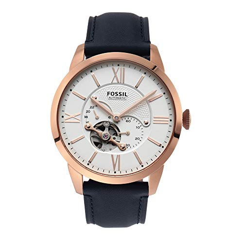 Fossil Men's Automatic Analogue Watch analog Display and Leather Strap, ME3171
