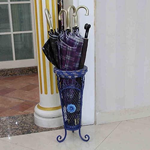 ZHANGYY Soporte de Paraguas para Pasillo Soporte de Paraguas Tienda de conveniencia para el hogar Supermercado Restaurante Hierro Plus Estante de Almacenamiento de Paraguas de Madera