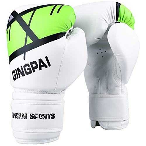 Generic Boxhandschuhe Sanda Handschuhe Erwachsene Weibliche Boxhandschuhe Kinder Professionelle Boxsack Junge Boxhandschuhe Männlich Grün einstellen 10oz