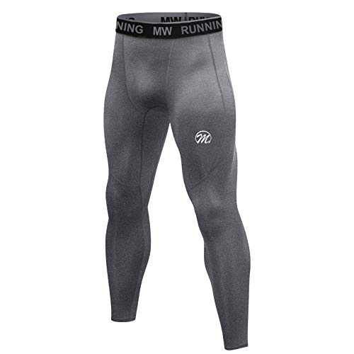 MEETWEE Leggings de compresión para hombre, mallas de correr, con capa base de secado...