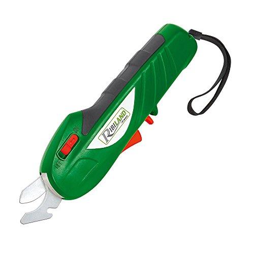 Ribiland PRSECBAT72 Ciseaux avec Batterie, 7,2 V, Vert, 8 x 4,5 x 27 cm