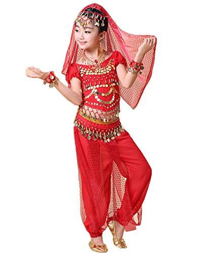 Traje De Danza del Vientre Traje De Baile De La India, Tops Y Pantalones De Niñas/Mujer