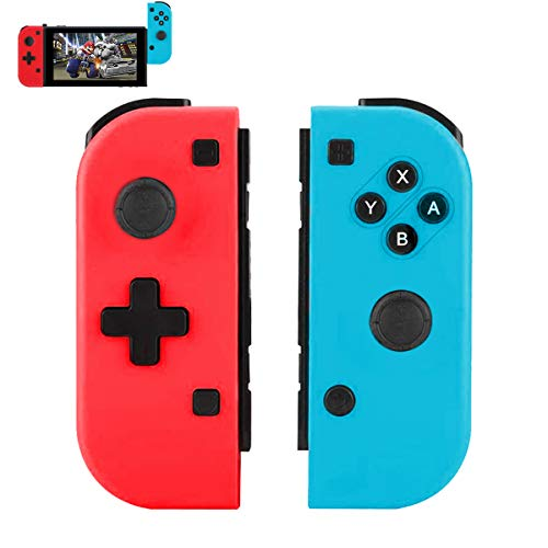 TUTUO Wireless Controller für Switch Joycon, 2er-Set Kabelloser Bluetooth Replacement Gamepad Joypad Joystick Kompatibel für Nintendo Switch Controller