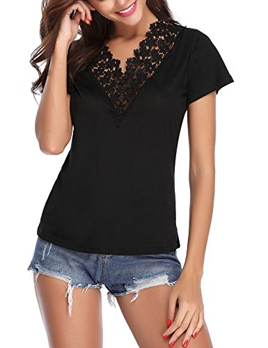 Abollria Camiseta Manga Corta para Mujer Camisa Algodón Cas