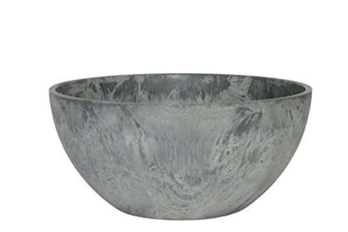 Ivyline Artstone Vaso da Fiori Vassoio per Piante Fiona, Resistente al Gelo e Leggero, Grigio, 25x12cm