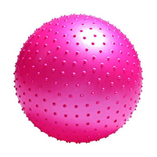 XDDQB Gym Ball Gymnastikball Mit Pumpe Physiotherapie Zubeh?R Aufblasbar Und Berstsicher FüR Fitness Reha Workout RüCkentraining Und Coordination-Stachel-Pink 50cm