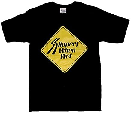 Slippery When Wet(Tシャツ)(ブラック)(Sサイズ)(HWZCA-04441)