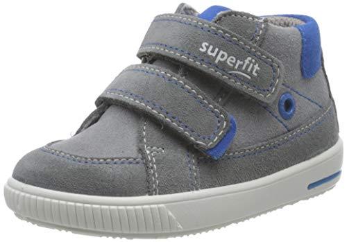 Superfit Baby Jungen MOPPY Sneaker, (Grau/Blau 25), 26 EU