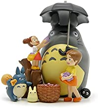 YOYOTOY 8Pcs/Lot DIY Studio Ghibli Neighbor Totoro Satsuki Mei Toys PVC Umbrella Totoro Action Figure Model Toy for Kids Gift Home Decor New Must Haves 2 Year Old Girl Gifts The Favourite DVD