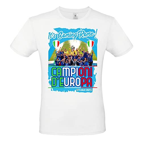 T-Shirt Maglietta CELEBRATIVA Campioni Europei Italia Giocatori...