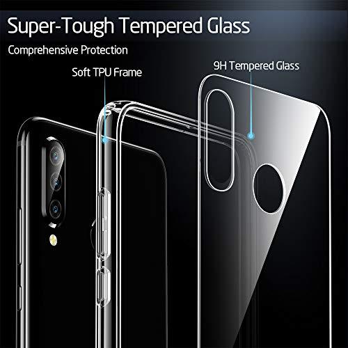 ESR Glashülle kompatibel mit Huawei P30 Lite - 9H Hartglas Handyhülle mit dualer Rückseite - Kratzfeste Schutzhülle mit weichem TPU Bumper für Huawei P30 Lite - Klar - 2