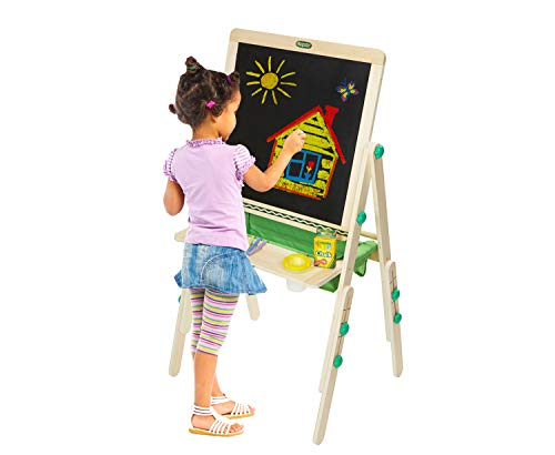 Crayola Deluxe Kids Wooden Art Easel & Supplies, Amazon for Kids, Ages 3, 4, 5, 6