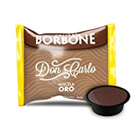 caffè borbone don carlo miscela oro - confezione da 100 capsule - compatibili con macchine a marchio lavazza®* a modo mio®*