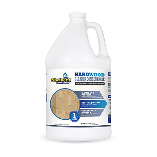 of wood floor cleaning solutions Sheiner's - Hardwood Floor Cleaner Concentrate, Concentrated Cleaner for Hard Wood Floors, Wood Furniture, Laminate Wood Flooring, and Engineered Hardwood Floors, 1 Gallon