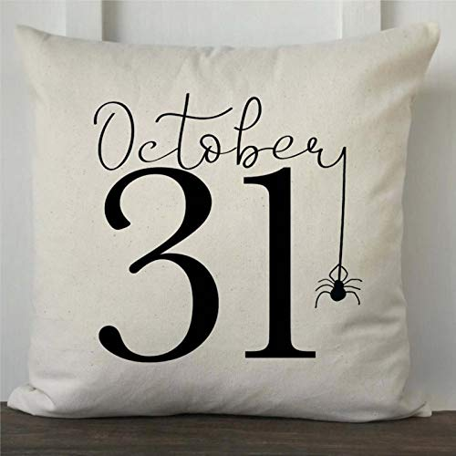 DONL9BAUER Halloween October 31 Fall Premium Throw Pillow Cover, Present Decorative Pillow,Modern Cushion Cover For Indoor Bedroom,Sofa,Living Room,Car.