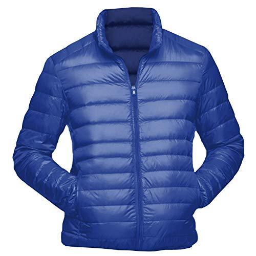 Logista Herren Mikro-Daunen-Jacke Royalblau - Echt-Daunen-Jacke blau, Ultraleicht, inkl. Transportbeutel (S)