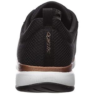Skechers Flex Appeal 3.0-First Insight, Zapatillas Mujer, Negro (Bkrg Black Mesh/Trim), 39 EU