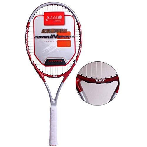 Chunjiao Raqueta de Tenis For Adultos niños Principiante Carbono Aluminio Integrado Conjunto Profesional (Color : Red, Size : 69cm/27 Inches)