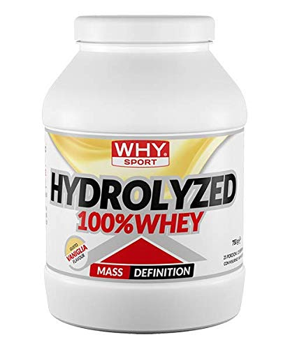 Why Sport Hydrolized 100% Whey Gusto Vaniglia 750 Grams 25 Porzioni