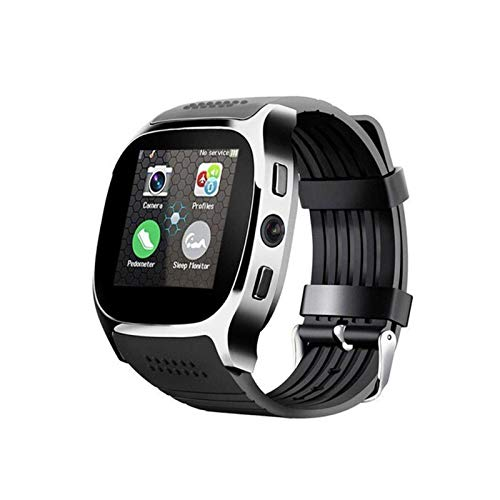 XXY T8 Smart Watch 1.54 Pulgadas Fitness Tracker Presión Arterial Smart Clock Support Sim TF Card Call SPORTSWATCH para Android iOS (Color : Black, Size : with Original Box)