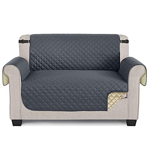 TAOCOCO Sofaschoner Schonbezug Sofa Überwürfe Sofa Schutz Abdeckung Rutschfes für Hunde Haustieren, Abnutzung und Riss schützen (Grau, 2 Sitzer)