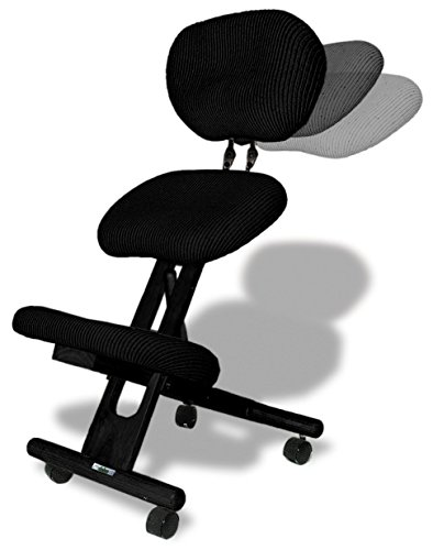 cinius Professional kneeling ergonomic chair with back, in several...