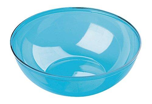 MOZAIK Turquoise Blue Round Plastic Salad Serving Bowl 27cm (3.5 Litres)