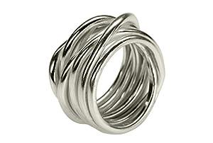 SILBERMOOS XL XXL Ringe in großen Größen Damenring Herrenring Partner Ring Ehering Wickelring Größe 64, 66, 68, 70 Sterling Silber 925