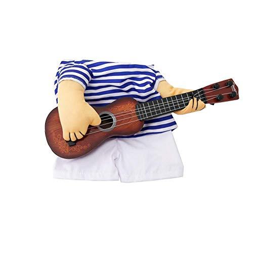 Kentop Costume de chanteur amusant pour animal de compagnie - Taille L