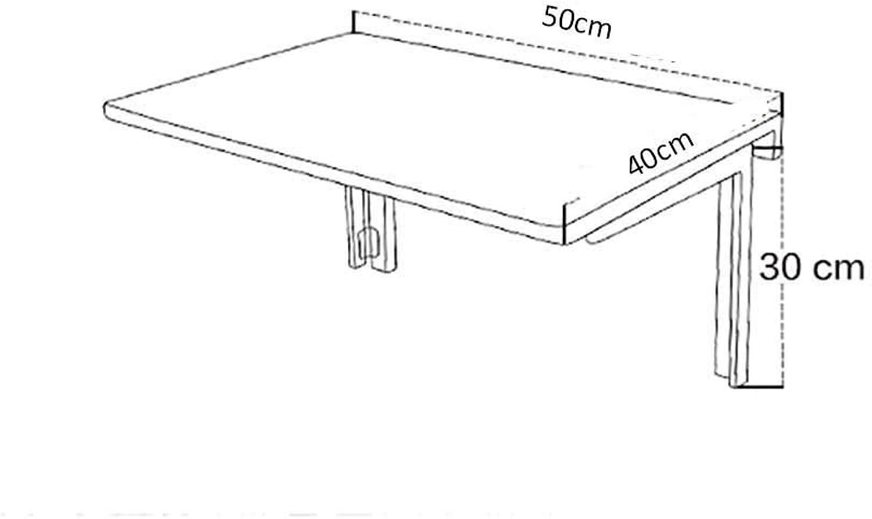 AFDK Weier Massivholz-Klapptisch Wandmontierter, rechteckiger einfacher Mehrzweck-Esstisch mit K-Halterung, tragbarer Laptop-Computer-Klapptisch,50  40 cm