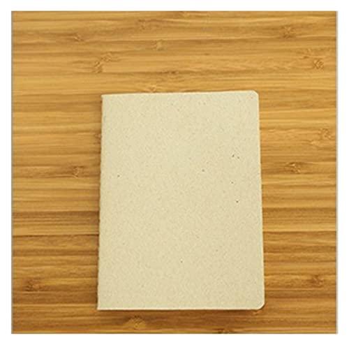 Computadora portátil Craft Cuaderno Oficina Suministros Diario Libro BRICOLAJE Retro The Kraft Papel Blank Memo Pad Book Book Bloc de notas Conveniente y hermoso (Color : Grey, Size : 10x14cm)