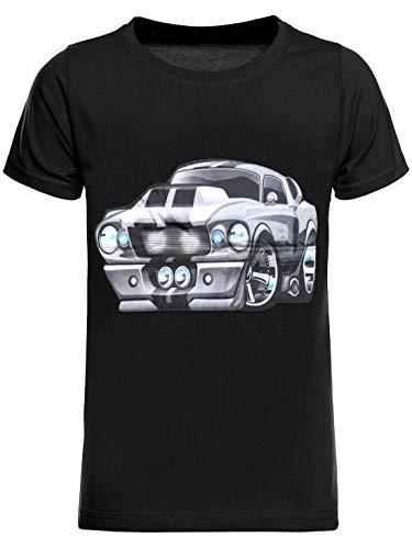 BEZLIT Kinder T-Shirt Jungen Shirt Kurzarm T-Shirts LED Licht Effekt 30032 Schwarz 104