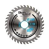 DIAMWOOD EXPERT EN EQUIPEMENT - Lame de scie circulaire portative HM universelle D. 190 x Al. 30 x ép. 2,2/1,4 mm x Z48 Alt pour bois