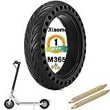 MIHUNTER - Neumático completo para Xiaomi m365/M365 Pro Scooter eléctrico Xiaomi Scooter eléctrico Neumático sólido de 8,5 pulgadas, rueda anti pinchazos 8 1/2 rueda con palancas (1 unidad)