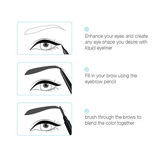 Nourich Eyeliner Pen Maquillage Cosmétique Noir,Professionnel Imperméable liquide Pen Eyeliner Longue durée EyeLiner Naturel Eyeliner Pen Maquillage Cosmétique (01#)