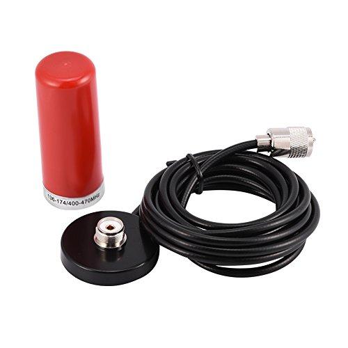 clasificación y comparación Antena de coche, antena inalámbrica de doble banda VHF / UHF con base magnética … para casa