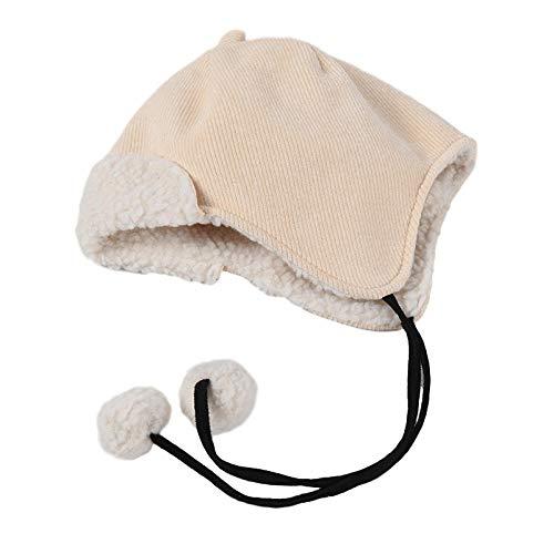 IRCATH Hut weiblich Herbst und Winter niedlichen Ball Ball Gehörschutz Cord kalt warm Hut Outdoor Sport warm Hut-C4